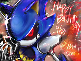 Happy Birthday!!Metal Sonic! by Tapozia