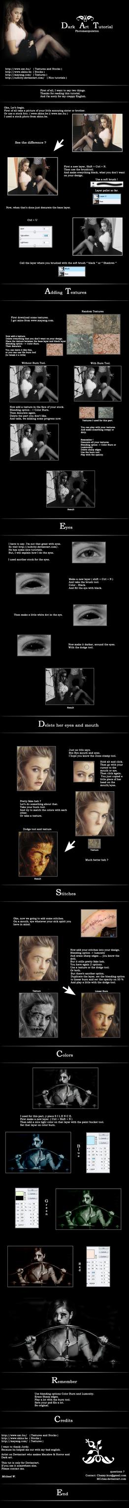 Dark art tutorial. by MCchaz