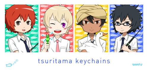 Tsuritama Chibi Keychain Things by shihfu
