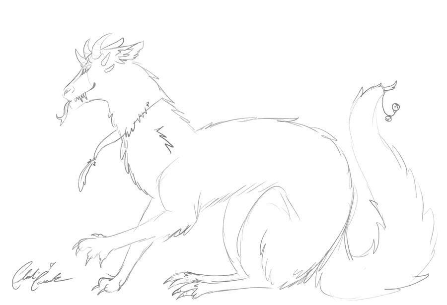 Dragon sketch by LoD90