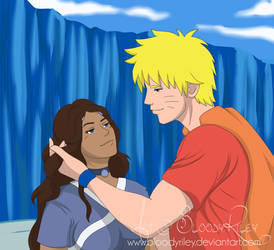Together on the Bridge - Naruto and Katara