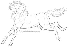 Horse Lineart 2 by stableblondy