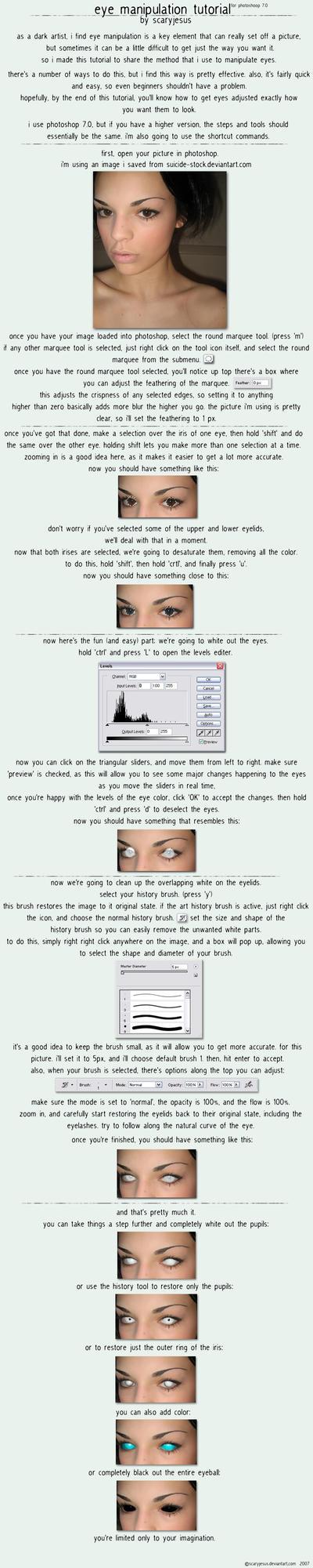 eye manipulation tutorial by scaryjesus
