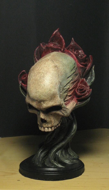Grateful Dead skull statue by shin339
