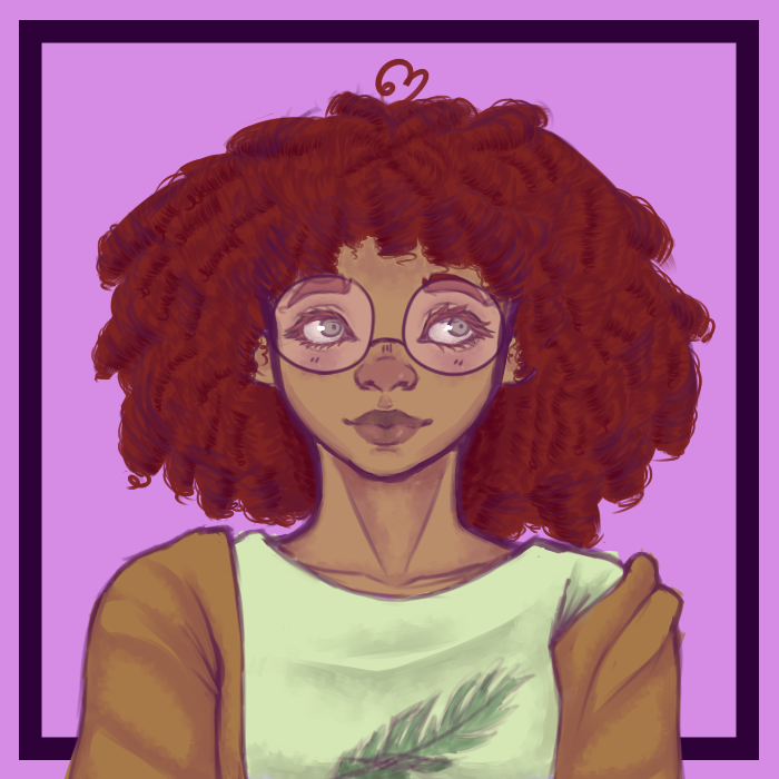 Curly Hair and Glasses by Vocaloid105