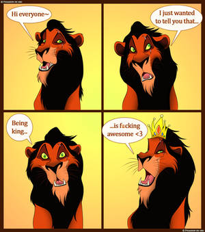 Scar's got a message for you