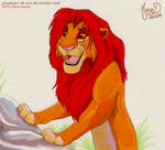 Simba with markers by PouassonDeOro