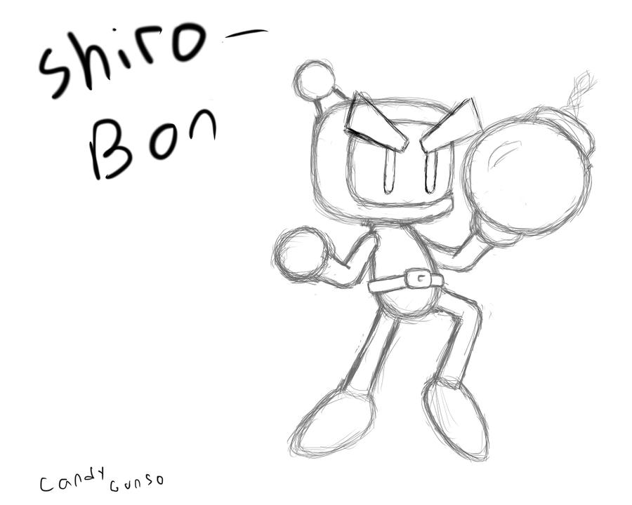 Bomberman coloring pages ~ Bomberman sketch by CandyGunso on DeviantArt