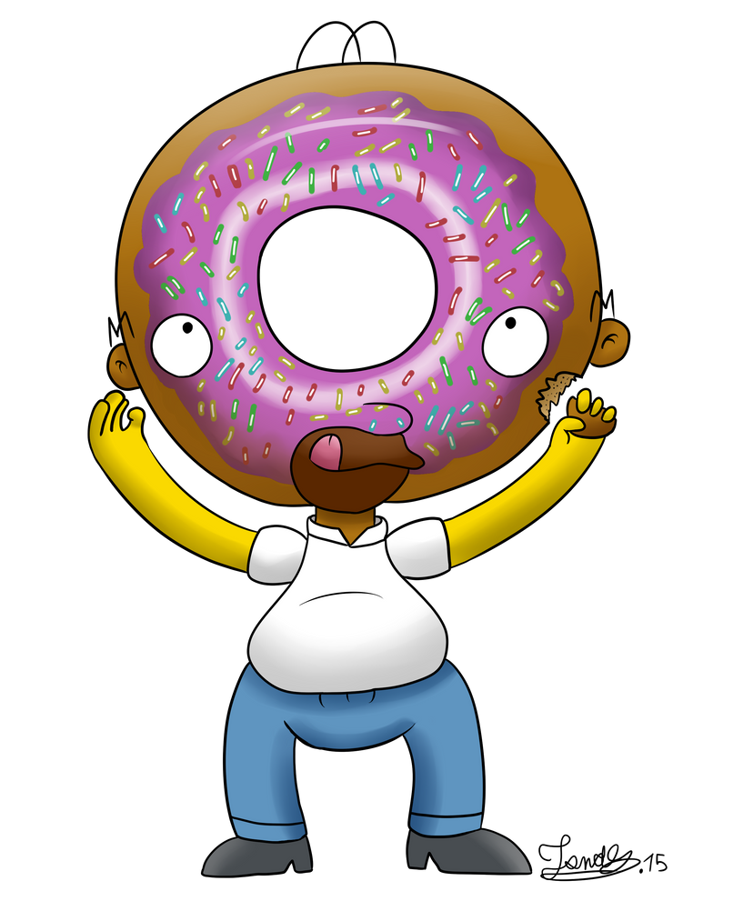 Homer Simpsons Donuts Head By