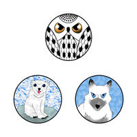 Designer jewelry set bear, fox and owl by Jonas-D