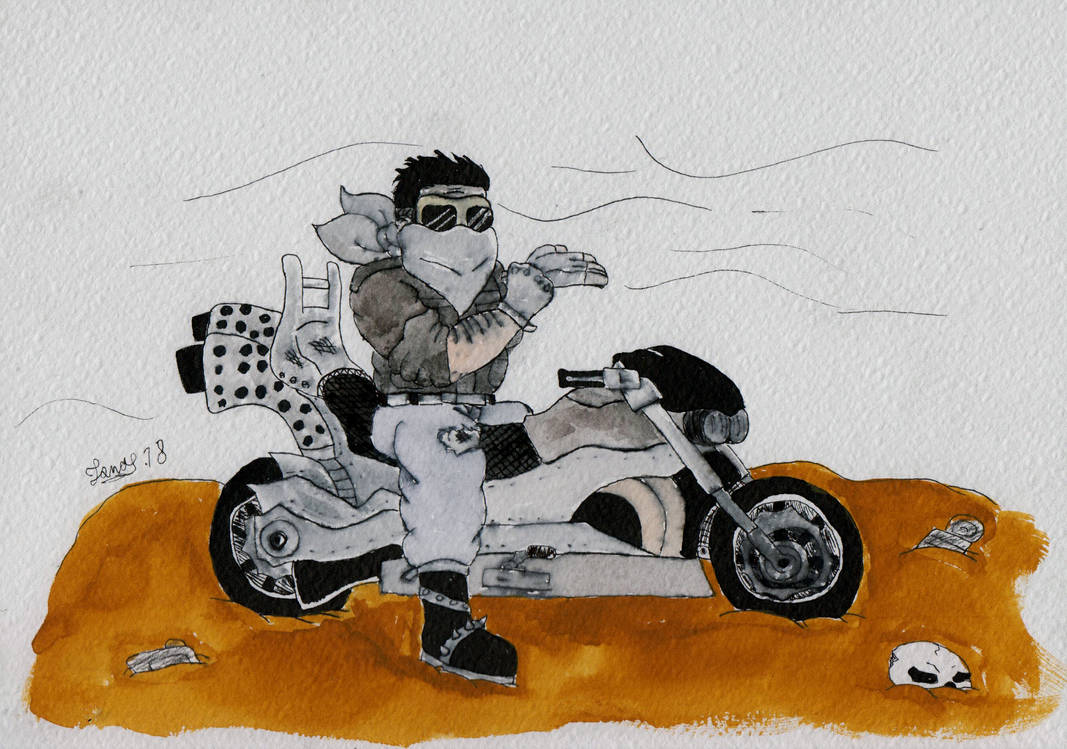 Mad Max motorcycle  by Jonas-D