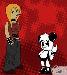 Paula et Darwin version Metal