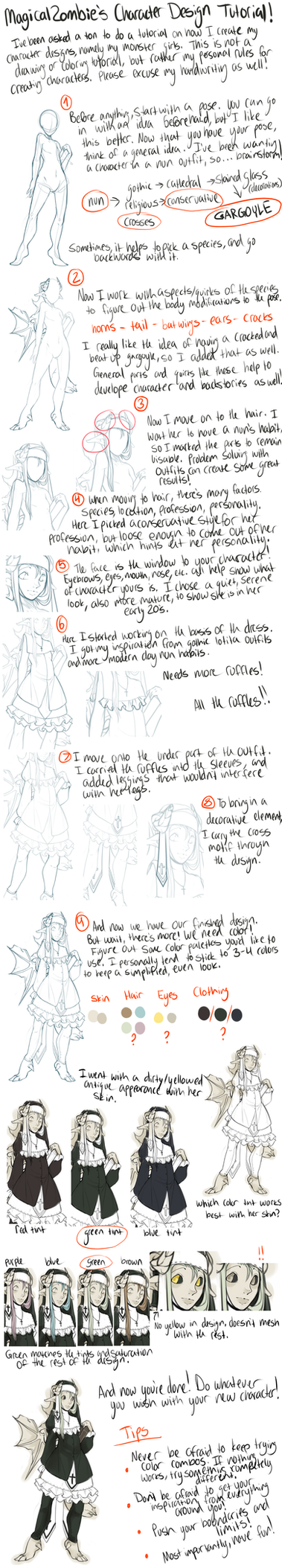 Character Design Tutorial by MagicalZombie