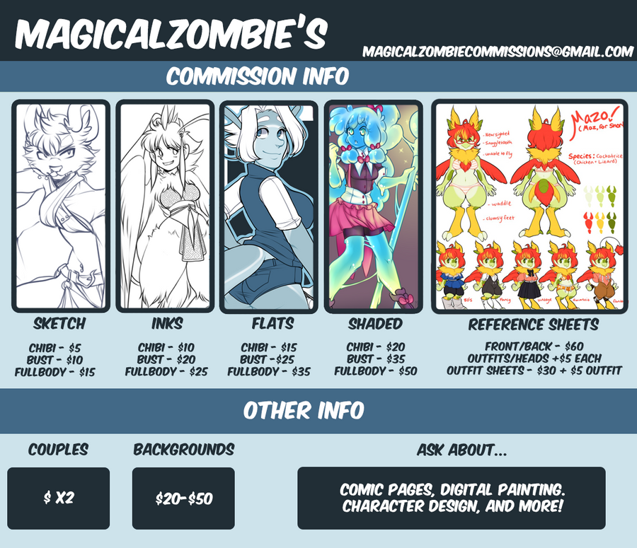 Commission Prices [Open] by MagicalZombie