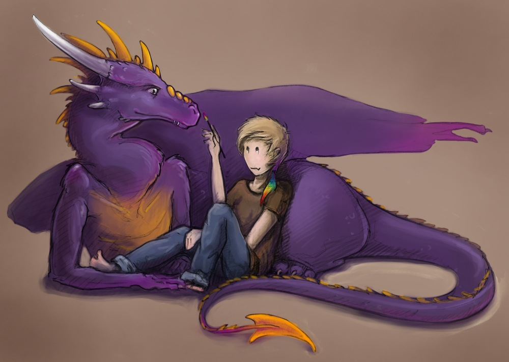 my alter-ego and I by NikaTheDragon