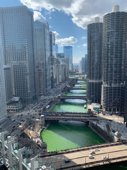 Green Chicago River by Willy276