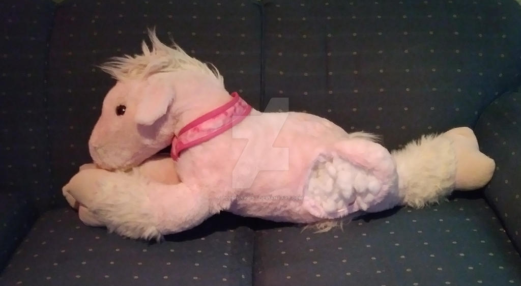 Pink Horse Ripped Leg By Plush Artist On Deviantart