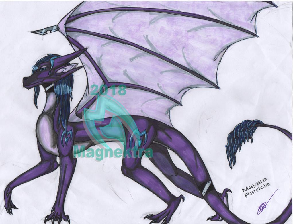 Magnektra [Dragon Form] by Fox-Speedpaints