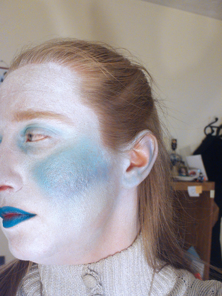 Ice Queen Makeup, Left Side by LovedPurpleAngelWife