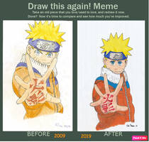 Draw this again: Naruto by Risa-tono