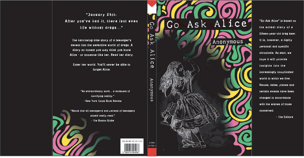 go ask alice symbols essay Essay on go ask alice go ask alice go ask alice is the raw and personal diary of alice, a 15 year old girl in the 1960's whose life begins just like any other middle-class adolescent with a loving family and financial stability.