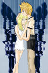 Namine Roxas with wallpaper