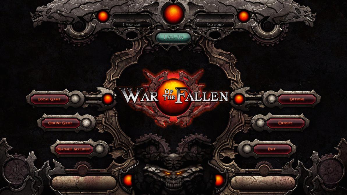 War of the fallen UI by ashramek