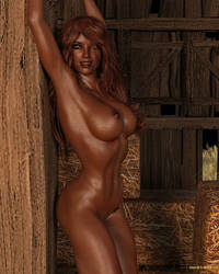 Casey Reed 584 - Her New Tattoo 06 by Cosmics-3D-Angels