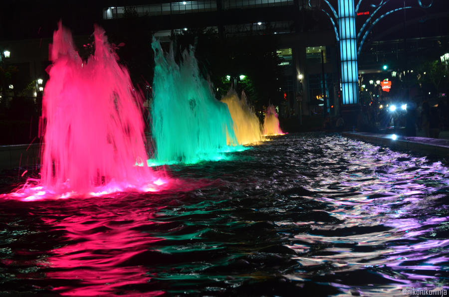 Neon Fountains by nikonikoninja