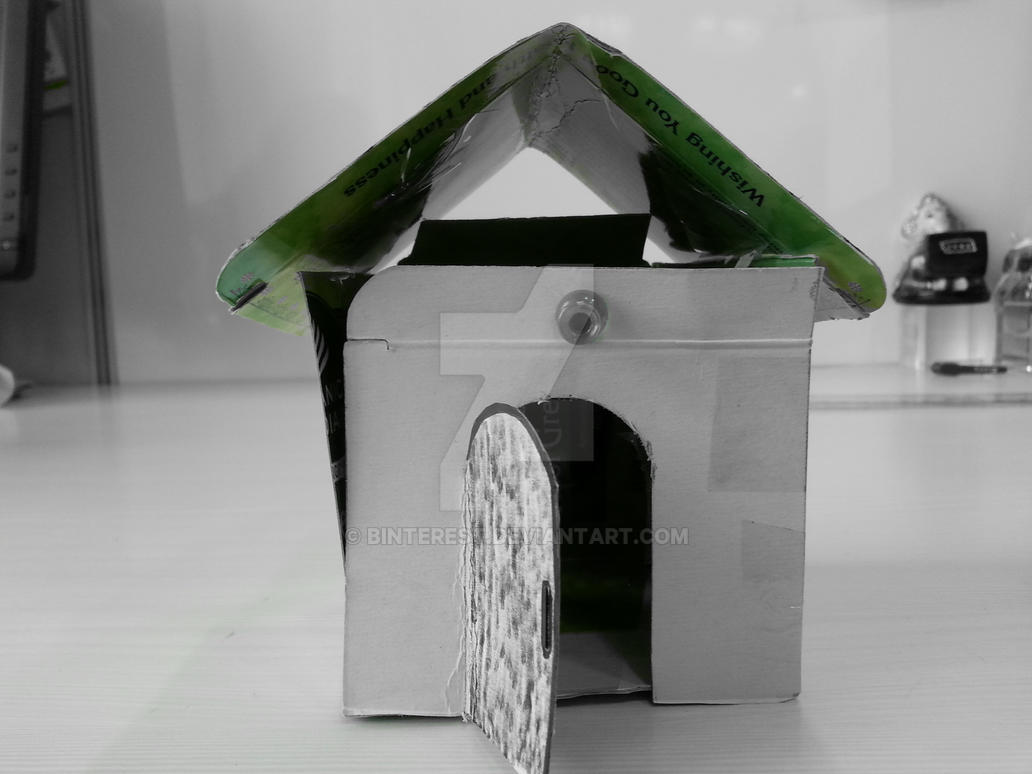 Teabag house best out of waste by binterest on deviantart for Best out of waste working models