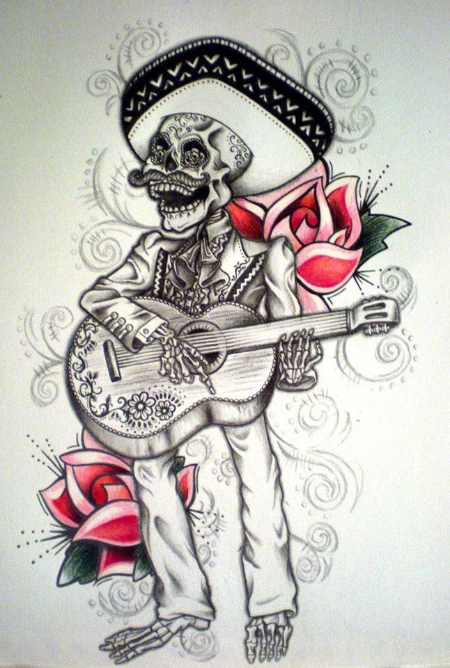 day of the dead mariachi tattoo by desertdahlia on deviantart. Black Bedroom Furniture Sets. Home Design Ideas
