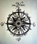 True North Compass Tattoo