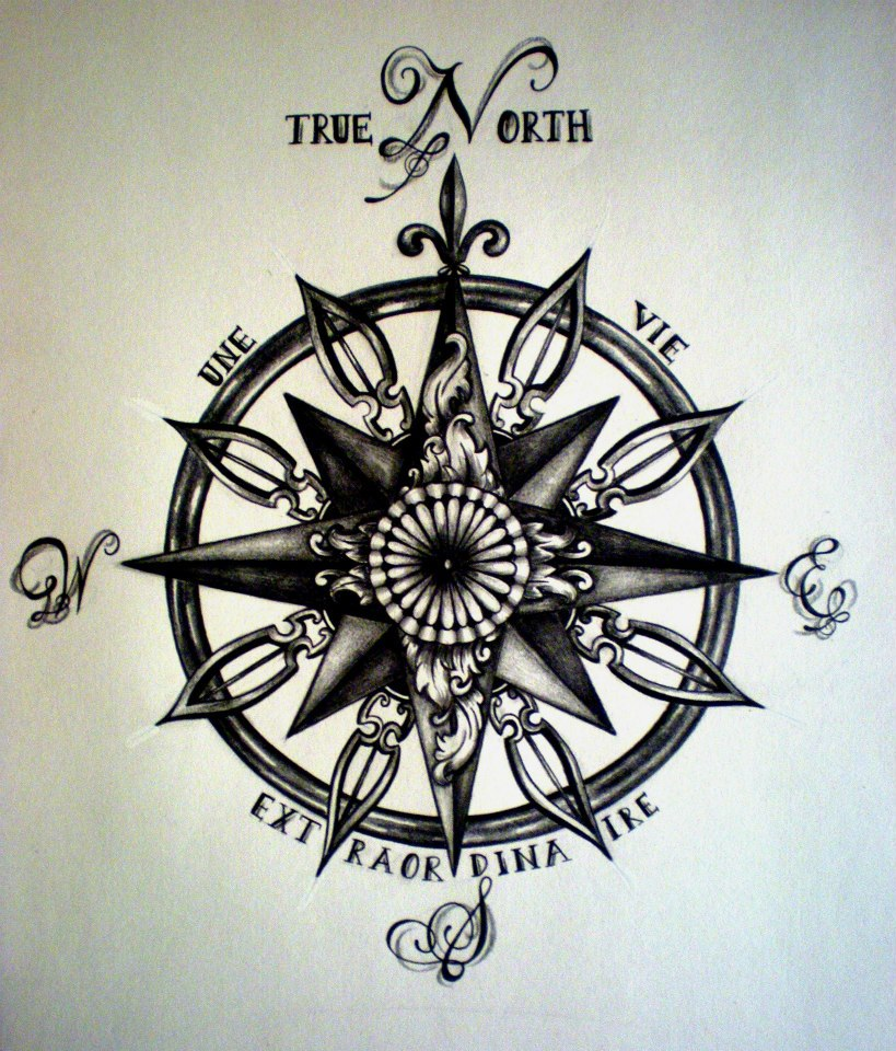 true north compass tattoo by desertdahlia on deviantart. Black Bedroom Furniture Sets. Home Design Ideas