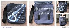 custom bag + electronic violin
