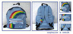 custom design rainbow backpack