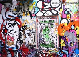 amsterdam comic wall by starplexus