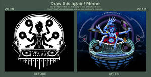 MEME: draw this again: disco shiva by starplexus