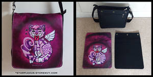 cheshire cat messenger bag