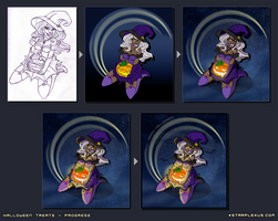 Halloween Treats Progress by starplexus