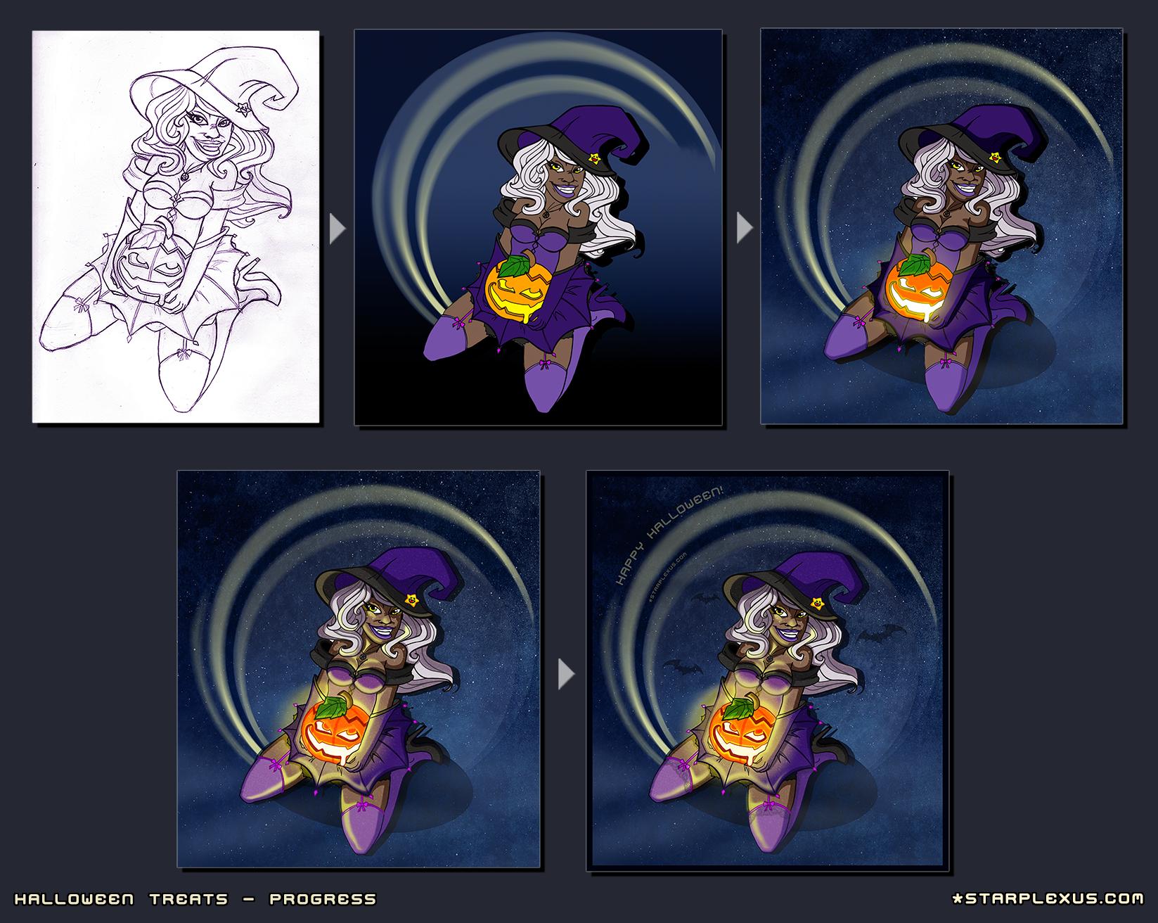 Halloween Treats Progress by starplexus