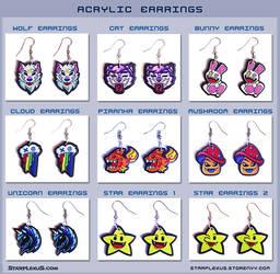 Acrylic Earrings by starplexus