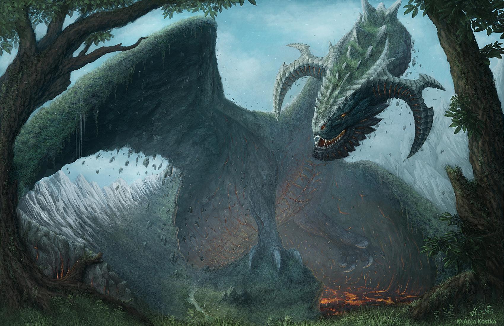Earth Gigant - Mountains Dragon by ArkaEdri