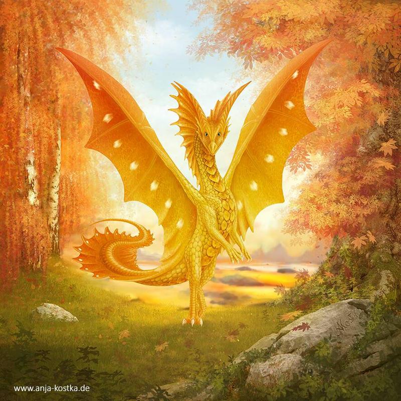 goldener drache by ArkaEdri