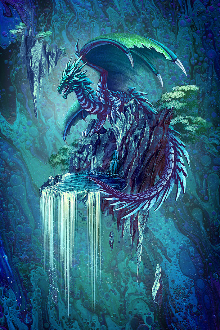 The Dragon's Waterfall by ArkaEdri