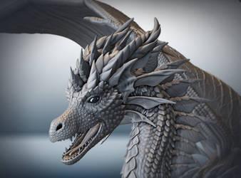 Dragon head by ArkaEdri