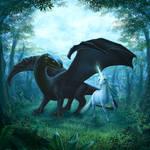 Dragon and Unicorn by ArkaEdri