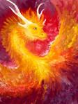 Fire dragon sketch by ArkaEdri