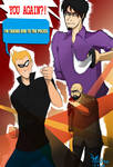Tintin Super Hero Art Jam: Tintin vs Ian by h37102468