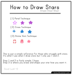 [Tutorial] How to Draw Stars: Simple Cheat Sheet