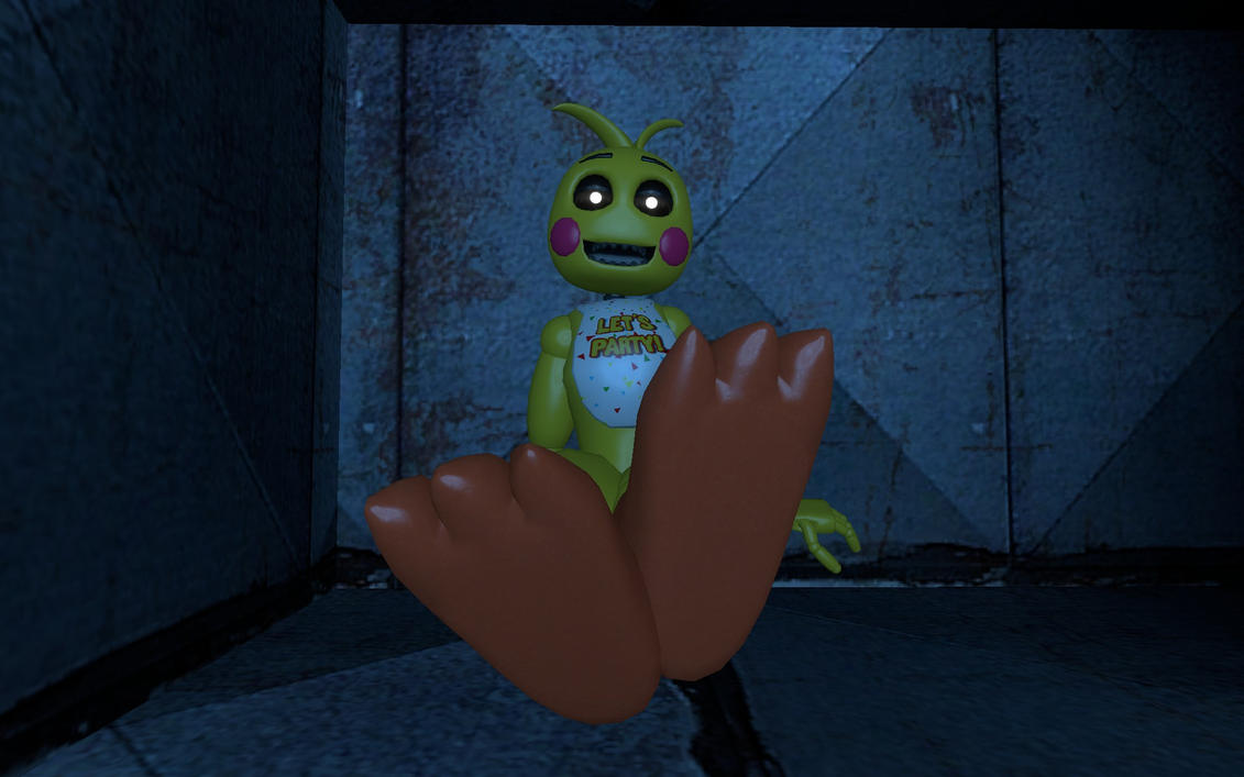 Toy Chica In the Vent by FootnPawLover1998